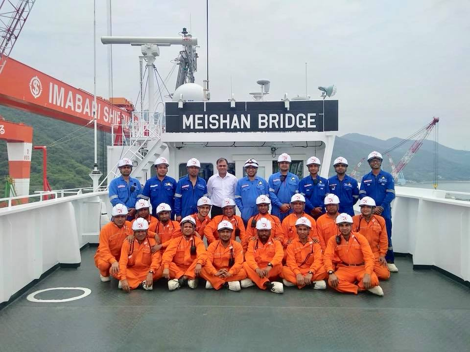 New Take Over Vessel Meishan Bridge