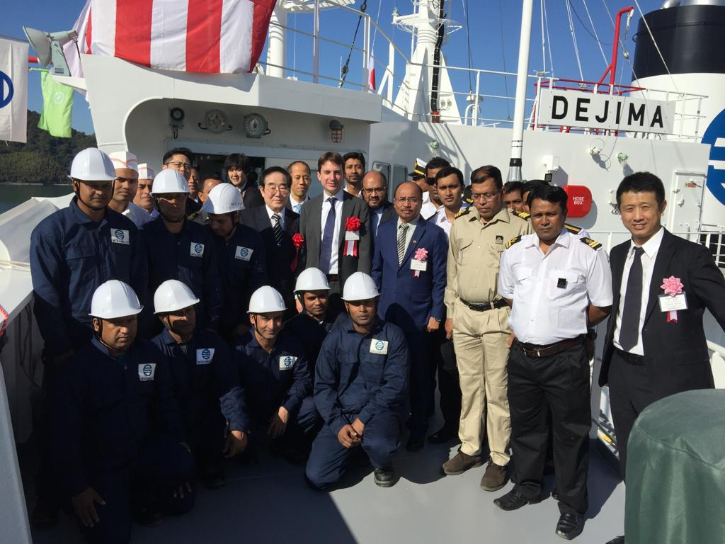 New Take Over Vessel MV. Dejima Delivery Ceremony